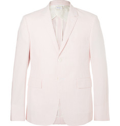 Thom Browne Pink Striped Cotton-Seersucker Blazer