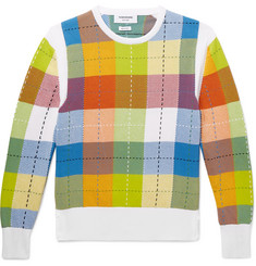 Thom Browne Checked Cotton Sweater