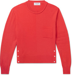 Thom Browne Slim-Fit Cropped Merino Wool Sweater