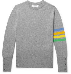 Thom Browne Slim-Fit Striped Cashmere Sweater