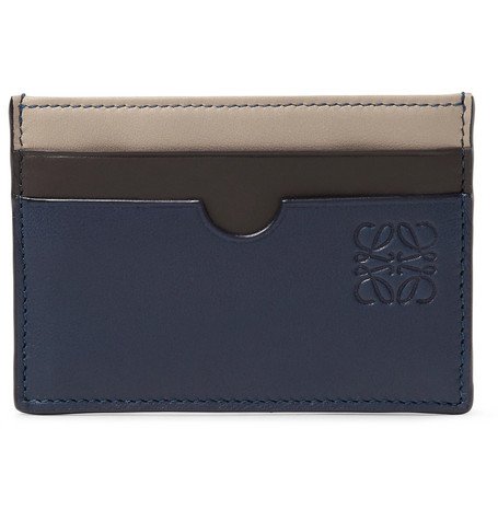 Colour Block Leather Cardholder by Loewe