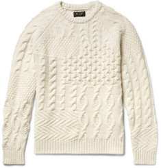 Beams Plus Slim-Fit Textured Wool-Blend Sweater