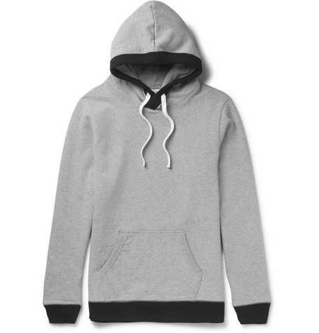 Beams Loopback Cotton-jersey Hoodie - Gray