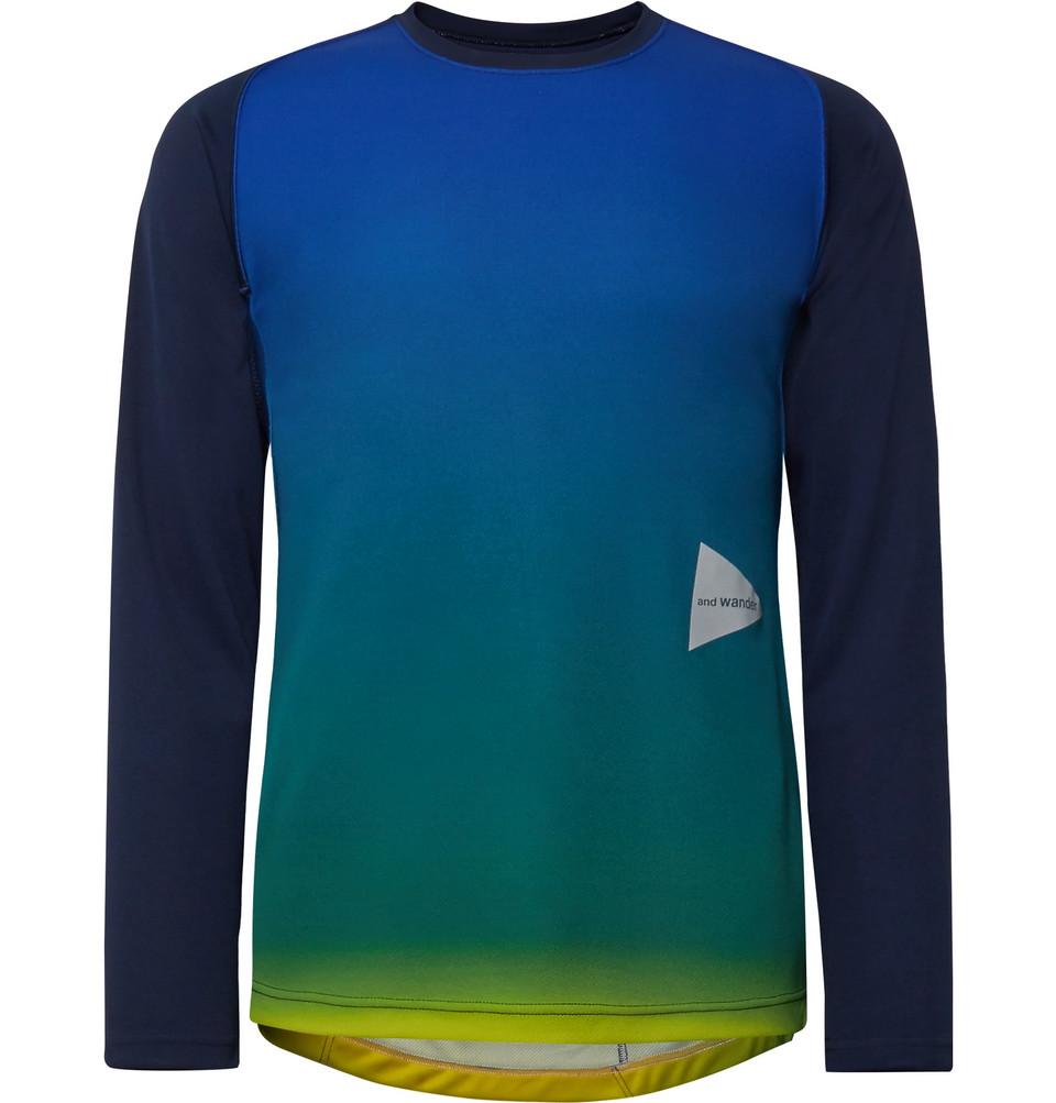 Dégradé Tech-jersey T-shirt - Blue