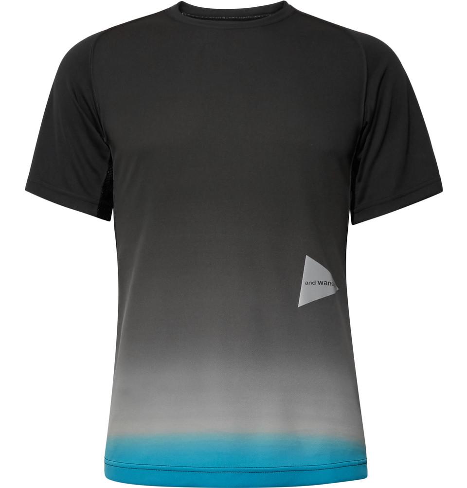 Dégradé Tech-jersey T-shirt - Black