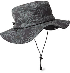 And Wander Reversible Printed Canvas Bucket Hat