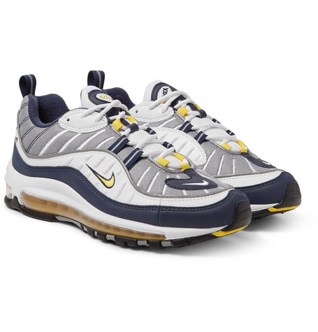 Air Max 98 leather and mesh sneakers