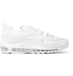 Nike Air Max 98 Mesh and Leather Sneakers