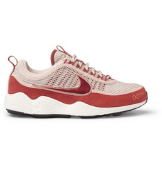 Nike Air Zoom Spiridon Rubber-Trimmed Mesh and Suede Sneakers