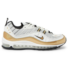 Nike Air Max 98 GMT Leather and Mesh Sneakers