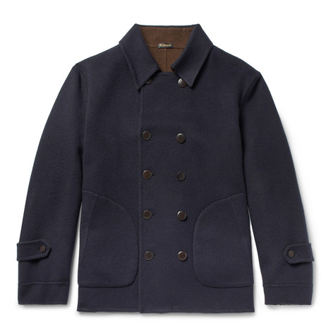 Cashmere Peacoat - Navy