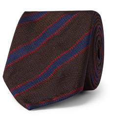Rubinacci 7cm Striped Silk-Faille Tie