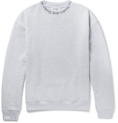 Acne Studios Printed Fleece-Back Cotton-Jersey Sweatshirt