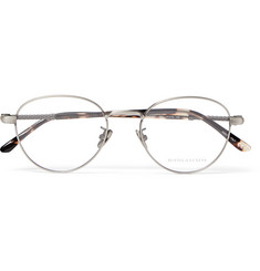 Bottega Veneta Round-Frame Brushed Silver-Tone Optical Glasses