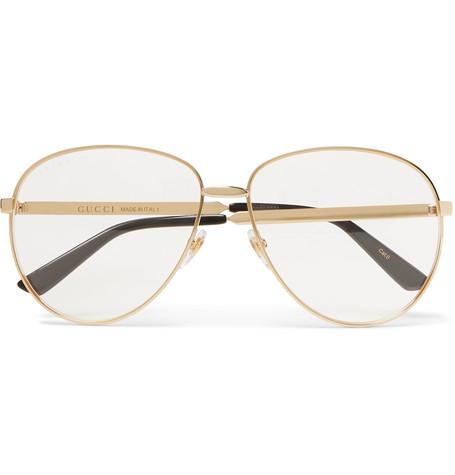 f817ad42cf4e aviator-style-gold-tone-optical-glasses by gucci