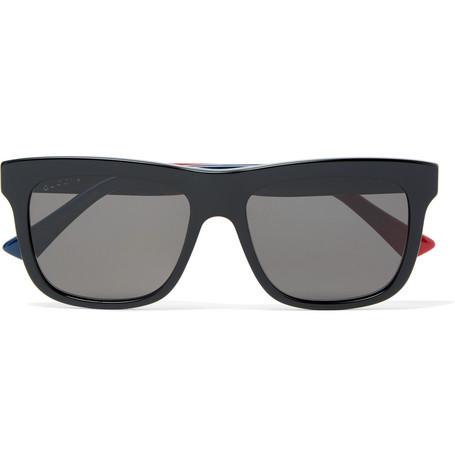 8795d4c5358 Gucci Square-Frame Acetate Sunglasses In Black