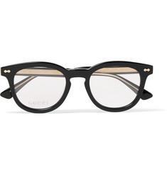 Gucci Round-Frame Acetate Optical Glasses
