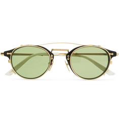 Gucci Convertible Round-Frame Acetate and Metal Sunglasses