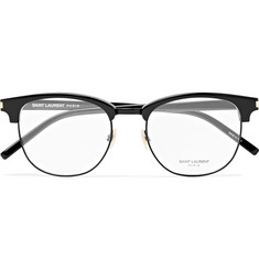 Saint Laurent Round-Frame Acetate And Titanium Optical Glasses
