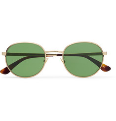 Saint Laurent Round-Frame Gold-Tone Sunglasses