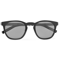 Saint Laurent D-Frame Silver-Tone and Acetate Sunglasses