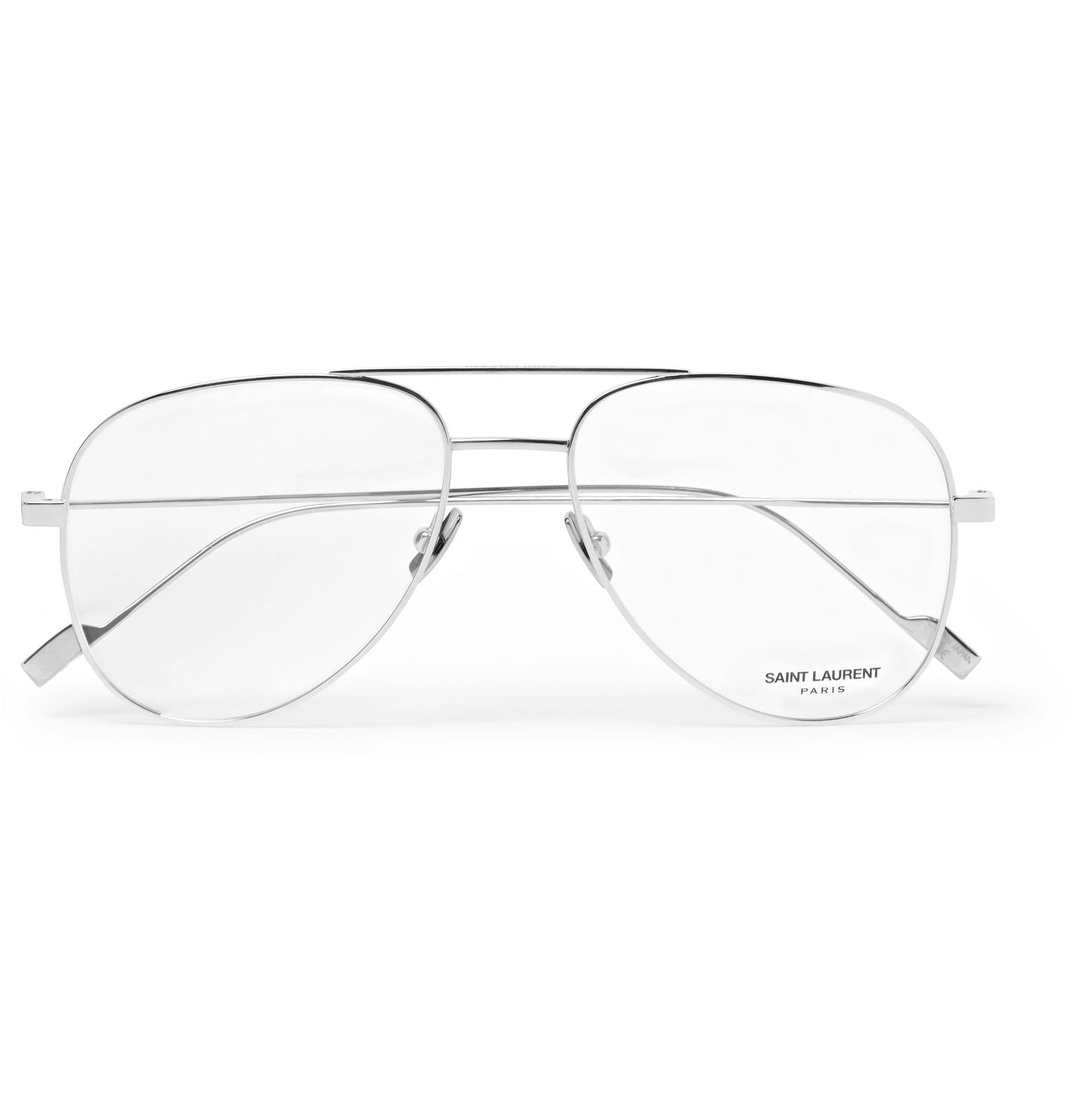 db4c152198a Saint Laurent - Aviator-Style Titanium Optical Glasses