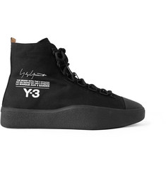 Y-3 Bashyo Printed Canvas High-Top Sneakers