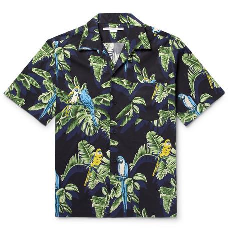 Camp-collar Printed Cotton Shirt - MintStella McCartney Acheter Pas Cher Vente Chaude Acheter Pas Cher Finishline Geniue Stockiste Pour Pas Cher Pré Commande Rabais MJDe8Vq