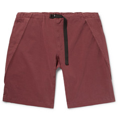 Stella McCartney - Percy Wide-Leg Garment-Dyed Stretch-Cotton Twill Cargo Shorts