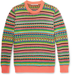Stella McCartney Fair Isle Virgin Wool and Cotton-Blend Sweater