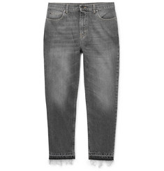 Stella McCartney - Cropped Tapered Slim-Fit Stonewashed Denim Jeans