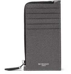 Givenchy Pebble-Grain Leather Zip-Around Cardholder