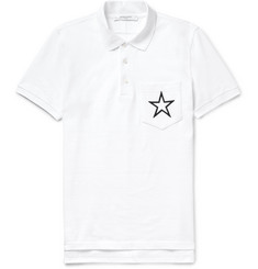 Givenchy - Cuban-Fit Embroidered Cotton-Piqué Polo Shirt