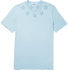 Givenchy Cuban-Fit Embroidered Cotton-Jersey T-Shirt