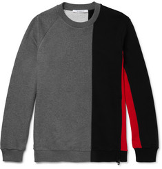 Givenchy Panelled Fleece-Back Cotton-Jersey Sweatshirt