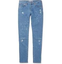 Givenchy Slim-Fit Distressed Stretch-Denim Jeans