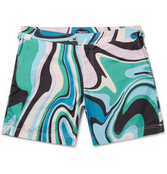 TOM FORD Slim-Fit Mid-Length Printed Swim Shorts