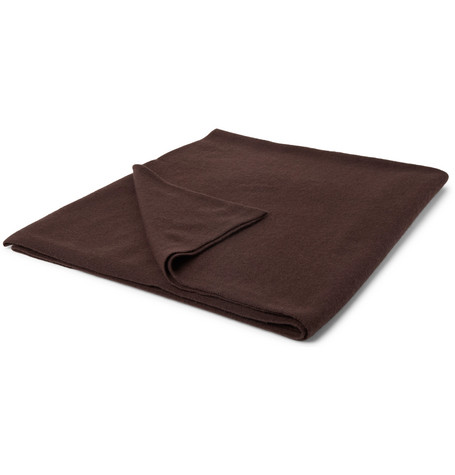Soho Home Cashmere Cinema Blanket In Brown