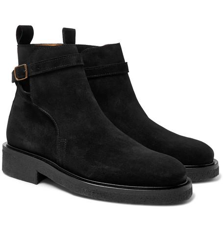 Suede Jodhpur Boots - Black