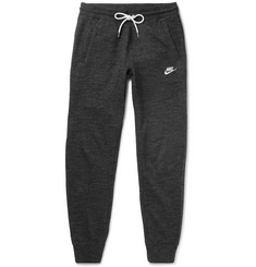 Nike  Legacy Mélange Loopback Cotton-Jersey Sweatpants