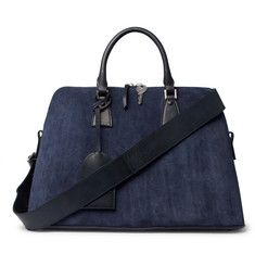 Maison Margiela - Suede, Leather and Canvas Holdall