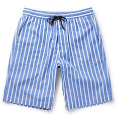 AMI Striped Cotton Bermuda Shorts