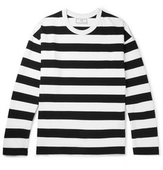 AMI - Striped Cotton-Jersey T-Shirt