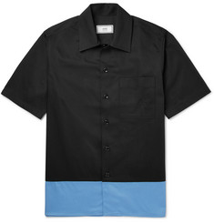 AMI Colour-Block Cotton-Twill Shirt