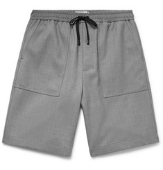 AMI Virgin Wool-Twill Drawstring Shorts