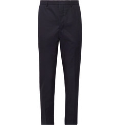 AMI Slim-Fit Tapered Cotton-Twill Trousers