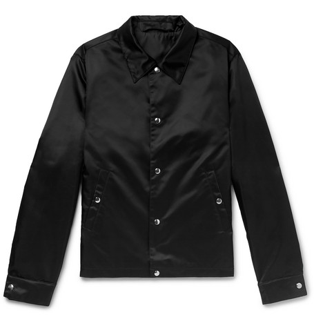 Satin Bomber Jacket - Black