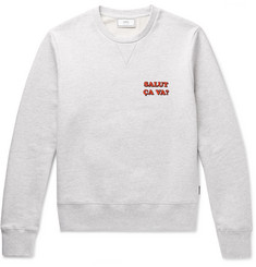 AMI Printed Cotton-Jersey Sweatshirt