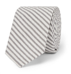 Thom Browne 5.5cm Striped Cotton-Seersucker Tie