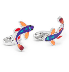 Paul Smith Fish Enamelled Silver-Tone Cufflinks